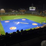 Wrigley Field with infield tarp