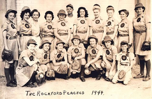 All american girls baseball league patches