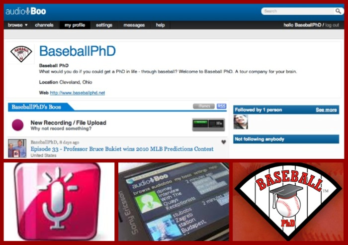 Baseball PhD is on Audioboo